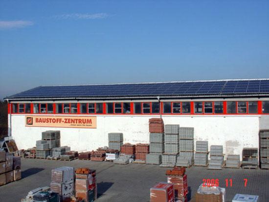 Photovoltaikanlage Baustoffzentrum Finsterwalde