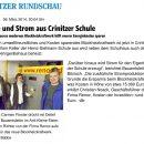 Lausitzer Rundschau Artikel – Wärme und Strom aus Crinitzer Schule